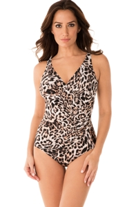 Miraclesuit Sublime Feline Oceanus Surplice One Piece Swimsuit