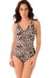 Miraclesuit Sublime Feline Oceanus Surplice One Piece Swimsuit