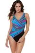 Miraclesuit True Colors Oceanus Surplice One Piece Swimsuit