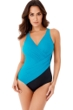 Miraclesuit Amalfi Green Oceanus Surplice One Piece Swimsuit