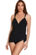 Trimshaper by Magicsuit Black Dakota V-Neck Tie Side One Piece Swimsuit