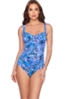 Trimshaper by Magicsuit Polynesia Averi Cross Over Shirred One Piece Swimsuit