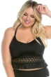 Becca ETC by Rebecca Virtue Plus Size Black Beauties Lace Bralette Bikini Top
