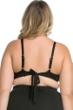 Becca ETC by Rebecca Virtue Plus Size Black Beauties Lace High Neck Bikini Top