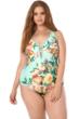 Becca ETC Plus Size High Tea Plunge One Piece Swimsuit