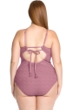 Becca ETC by Rebecca Virtue Color Play Lace High Neck Plus Size One Piece Swimsuit