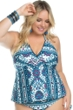 Becca ETC by Rebecca Virtue Plus Size Inspired Halter Tankini Top
