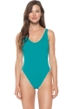 Becca by Rebecca Virtue Biscayne Bay Reversible Plunge High Leg One Piece Swimsuit