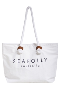 Seafolly White Ship Sail Tote Bag