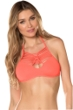 Becca by Rebecca Virtue Electric Current Persimmon Macrame Halter Bikini Top
