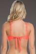 Becca by Rebecca Virtue Electric Current Persimmon D-Cup Macrame High Neck Bikini Top