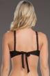 Becca by Rebecca Virtue Electric Current Solid Black E-Cup (DD-Cup) Macrame High Neck Bikini Top