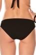 Becca by Rebecca Virtue Electric Current Solid Black Macrame Hipster Bikini Bottom