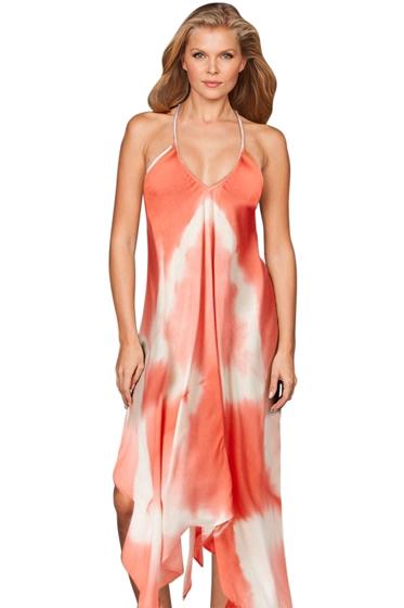 Raviya Coral Tie Dye Maxi Dress