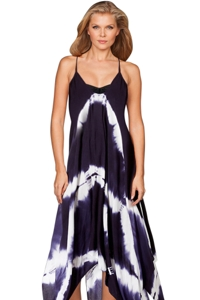 Raviya Navy Tie Dye Maxi Dress