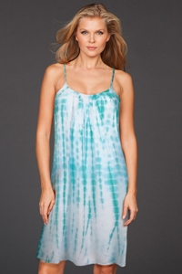 Raviya Seafoam Tie Dye Ladder Back Dress
