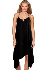 Raviya Black V Neck Beach Dress