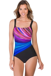 Chlorine Resistant Reebok Fire and Water One Piece Swimsuit