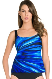 Chlorine Resistant Active Spirit Coastal Blues Tankini Top
