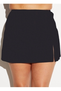 Fit 4U Black Plus Size Cover Up Skirt