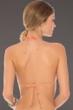 Becca by Rebecca Virtue Color Code Creamsicle Triangle String Bikini Top