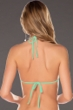 Becca by Rebecca Virtue Color Code Seaglass Triangle String Bikini Top