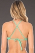 Becca by Rebecca Virtue Color Code Seaglass High Neck Bikini Top