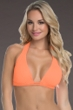 Becca by Rebecca Virtue Up To DDD Color Code Creamsicle Double Tunneled Triangle Halter Bikini Top