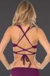 Becca by Rebecca Virtue Raisin Color Code Wrap Halter Bikini Top