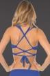 Becca by Rebecca Virtue Azure Color Code D-Cup Wrap Halter Bikini Top