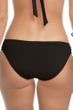 Becca by Rebecca Virtue Color Code Solid Black Side Shirred Hipster Bikini Bottom