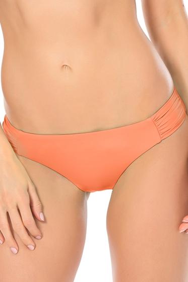 Becca by Rebecca Virtue Color Code Creamsicle American Side Shirred Bikini Bottom