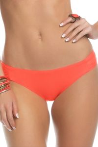 Becca by Rebecca Virtue Color Code Persimmon Side Shirred Hipster Bikini Bottom