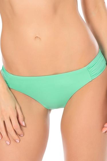 Becca by Rebecca Virtue Color Code Seaglass American Side Shirred Bikini Bottom