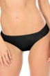 Becca by Rebecca Virtue Black Color Code Shirred Tab Side American Hipster Bikini Bottom