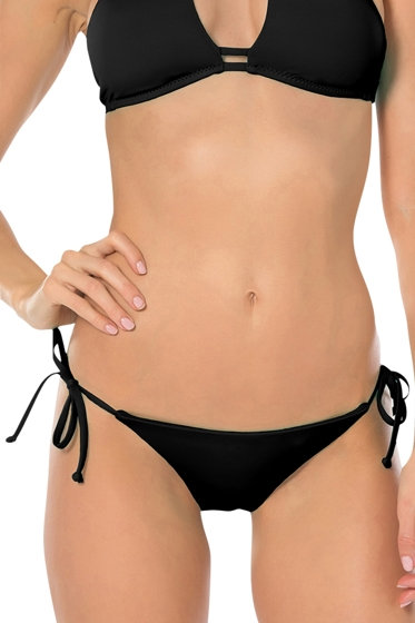Becca by Rebecca Virtue Color Code Black Tie Side Hipster Bikini Bottom
