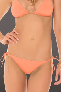 Becca by Rebecca Virtue Color Code Creamsicle Tie Side Hipster Bikini Bottom