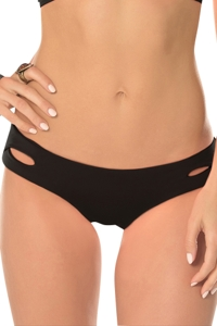 Becca by Rebecca Virtue Color Code Solid Black Hipster Bikini Bottom