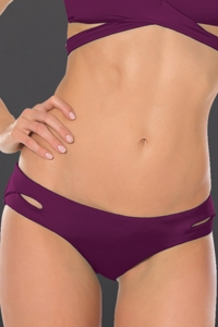 Becca by Rebecca Virtue Raisin Color Code Keyhole Hipster Bikini Bottom