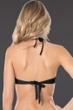 Becca by Rebecca Virtue Black No Strings Attached Macrame High Neck Bikini Top
