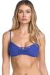Becca by Rebecca Virtue Azure No Strings Attached Macrame Bralette Bikini Top