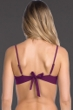 Becca by Rebecca Virtue Raisin No Strings Attached Macrame Bralette Bikini Top