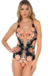 Becca by Rebecca Virtue Southern Belle Corset Lace Up One Piece Swimsuit