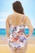 La Blanca White Botanical Garden Plus Size Sweetheart One Piece Swimsuit