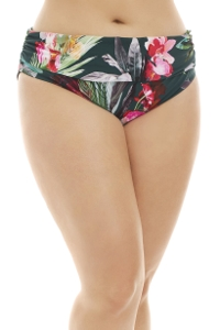 La Blanca Beyond the Jungle Plus Size Shirred Hipster Tankini Bottom