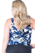 Maxine of Hollywood Navy Ink Floral Plus Size Blouson Tankini Top
