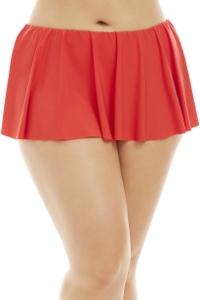 Kenneth Cole Sunset Orange Plus Size Flounce Swim Skirt