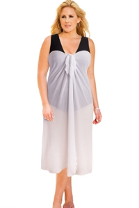 Always For Me Sun Diva White Plus Size Long Pareo Cover Up