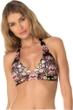 Becca by Rebecca Virtue Havana Banded Halter Bikini Top