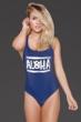 Peppa Hart x Aila Blue Navy Aloha One Piece Swimsuit